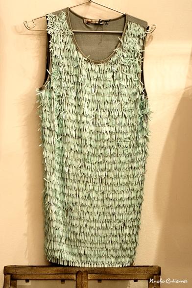 Atelier Concept - Vestido verde de lentejuelas