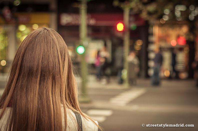En el semáforo