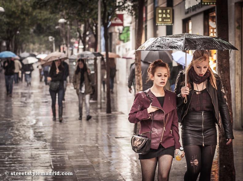 Paseando bajo la lluvia