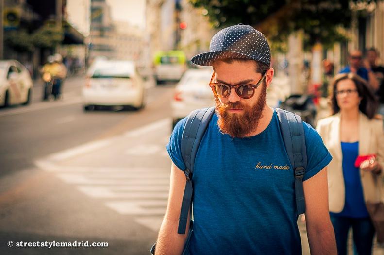 Hipster en azul.