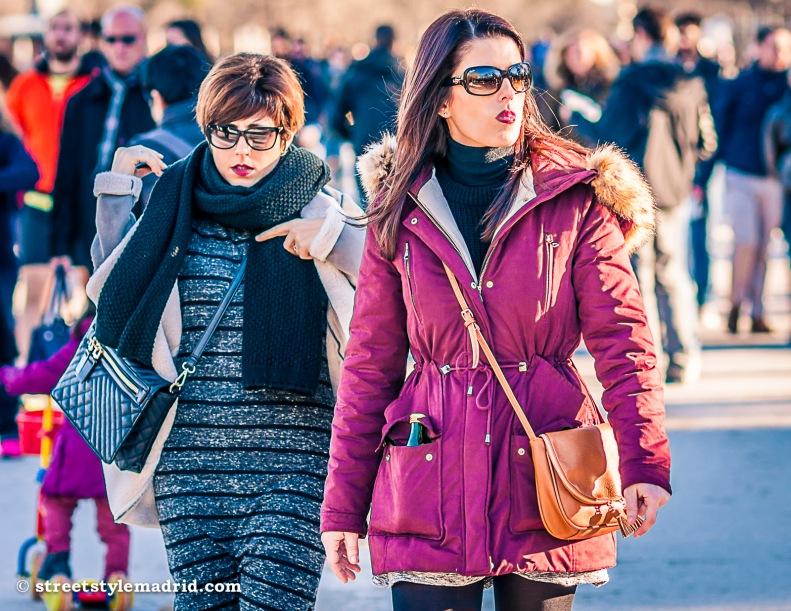 Street Style Madrid, abrigo con capucha de pelo