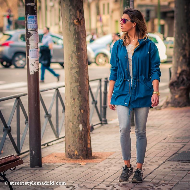 Street Style Madrid, Leggings, camiseta y deportivas