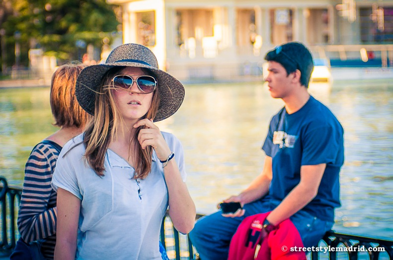 Street Style Madrid, pamela, sombrero de paja, gafas de sol