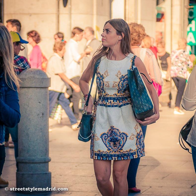 Vestido, street style madrid, minifalda
