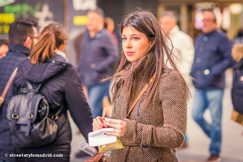 Street Style Madrid, chaqueta de punto