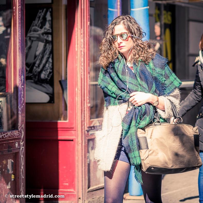 bufanda manta con motivos escoceses