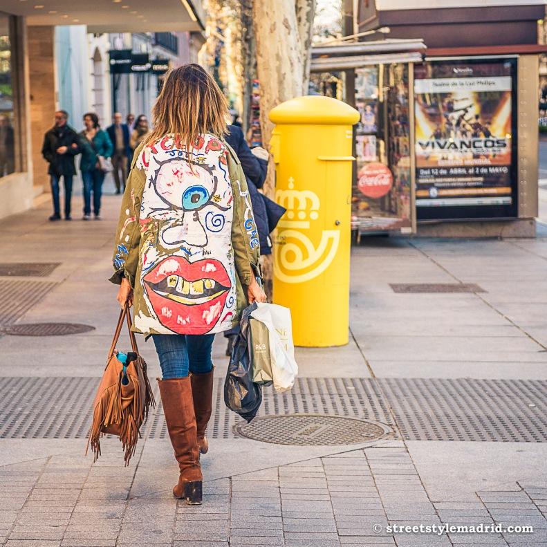 abrigo customizado, madrid, street style