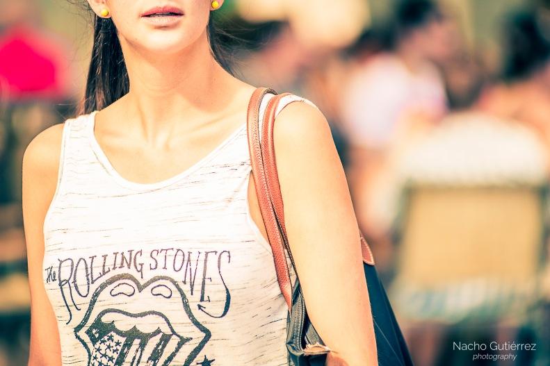 camiseta de tirantes, Rolling Stones, Bolso al hombro, street