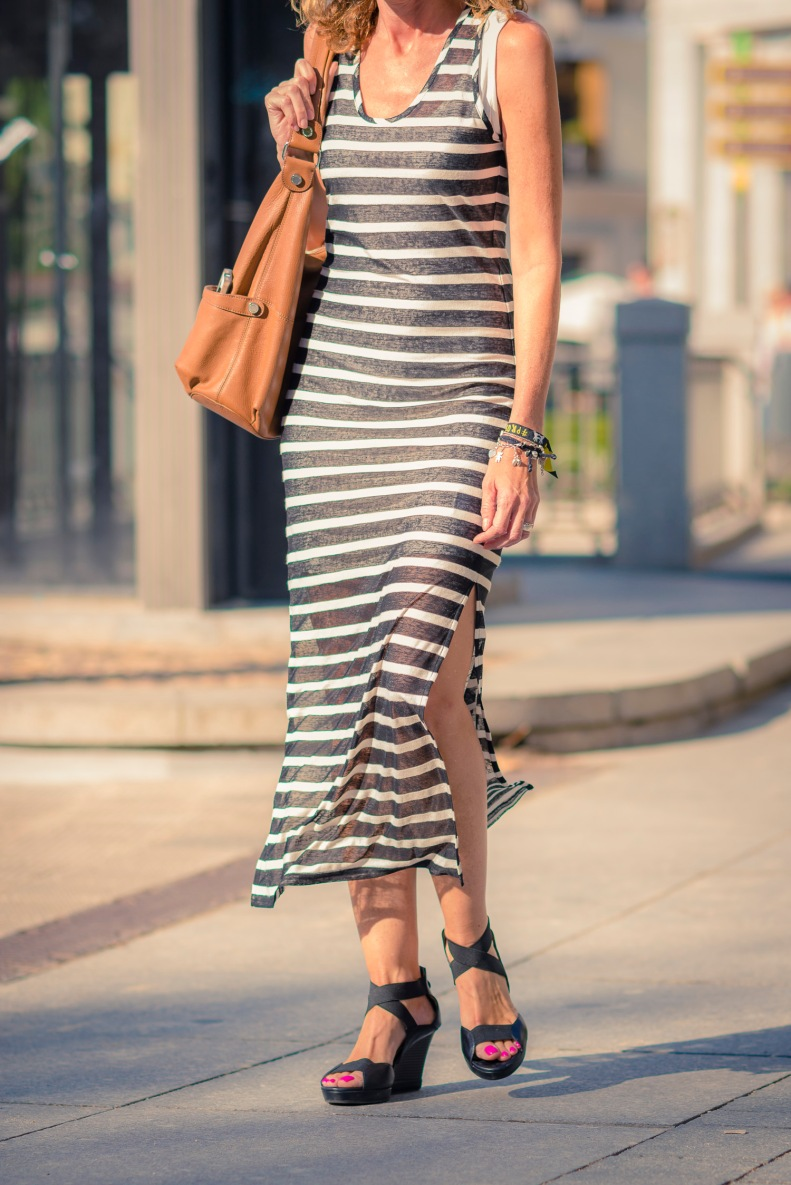 street style, madrid, moda, fashion, ootd, streetstyle, rayas, vestido, lines, dress