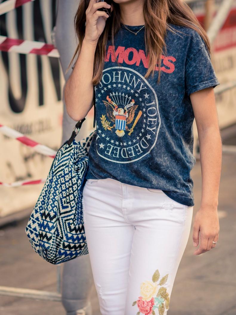 Street Style Madrid t shirt Ramones