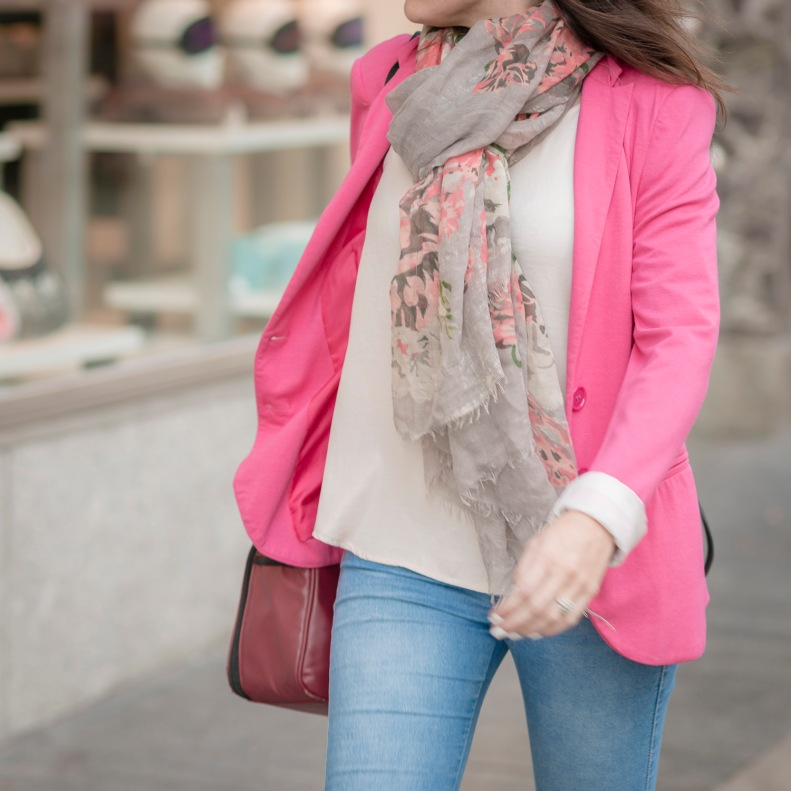 street style, madrid, moda, fashion, ootd, streetstyle, blazer, foulard